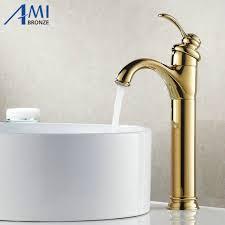 13 rétro plaqué or robinets salle de bains robinet en laiton