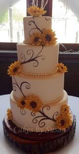Rustic Wedding Cake Ideas Amusing Sunflower Cakes