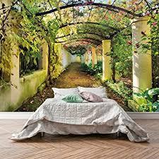 murimage fototapete schlafzimmer 366 x 254 cm inklusive kleister garten pflanzen blumen wintergarten pergola wohnzimmer tapete