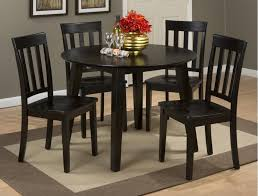 Simplicity Espresso Round Dropleaf Table