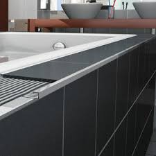 blanke cubeline 96 x 1 counter rail tile trim in aluminum shiny