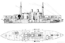 Where Did The Uss Maine Sank Map by Blueprint Of The Famous U S S Maine Showing Her Unusual Pre