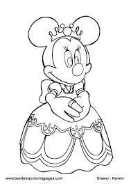 Coloring Pages Free Mouse Girls Best For Disney Frozen Princesses Et