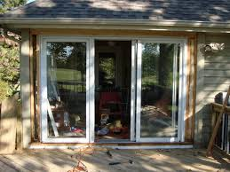 glass door Awful Installing Sliding Patio Door New Opening Picture