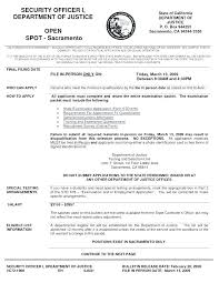 Resume For Security Guard Sample Examples Officer