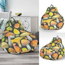 Colorful Mushroom Pattern Print Bean Bag Chair – Grizzshop