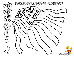 Fearless American Flag Coloring