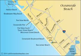 Oceanside Beach Map San Diego County CA