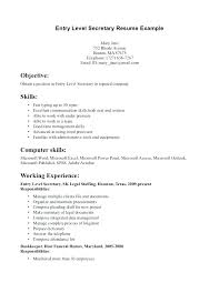 Sample Secretary Resume Bilingual Assistant Curriculum Vitae Company