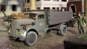 WWII Plastic Toy Soldiers: German Cargo Trucks