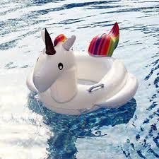 siege de piscine gonflable enfant bébé anneau siège bateau bouée flotteur gonflable licorne