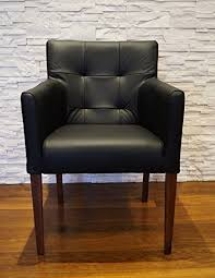 quattro meble breite schwarz echtleder esszimmerstühle massivholz stühle arm pik lederstühle sessel mit armlehnen echt leder esszimmer stuhl