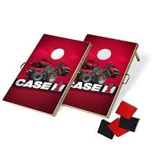 Case IH Tractor Trio Tailgate Bean Bag Toss Cornhole Game Set