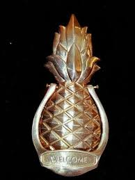 Pineapple Door Knocker Roselawnlutheran Brass Pineapple Door