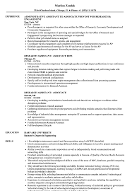 Research Assistant / Associate Resume Samples | Velvet Jobs Resume For Research Assistant Sample Rumes Interns For Entry Level Clinical Associate Undergraduate Assistant Example Executive Administrative Labatory Technician Free Lab Examples By Real People Market Objective New Teacher Aide No Experience Elegant Luxury Psychology Atclgrain Biology Ixiplay