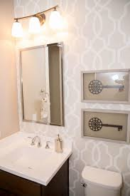 Neutral, Graphic Wallpaper Takes This Small Bathroom From Basic To ... How To Removable Wallpaper Master Bathroom Ideas Update A Vanity With Hgtv Main 1932 Aimsionlinebiz Create A Chic With These Trendy Sa Dcor New Kitchen Beautiful Elegant Vinyl Flooring Craft Your Style Decoupage And Decorate Custom Bathroom Wallpaper Ideas Design Light 30 Gorgeous Wallpapered Bathrooms Home Design Modern Neutral Graphic Takes This Small From Basic To Black White For Hawk Haven For The Washable Safe Wallpapersafari