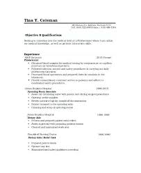 Caregiver Resume No Experience From Phlebotomist Samples Examples Sample