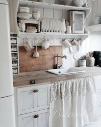 White Shabby Chic Kitchen Decor With Rustic Touches