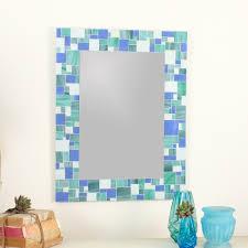 Blue Mosaic Bathroom Mirror by Mirrors U2014 Live In Mosaics