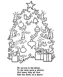 Night Before Christmas Coloring Pages