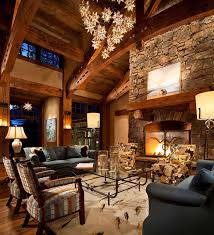 19 Stunning Rustic Living Rooms With Charming Stone Fireplace