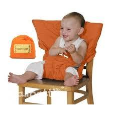 chaise bébé nomade travel baby high chair orange galipatte