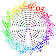 A Graphic For Testing Printers It Consists Of The Word Printer Written On