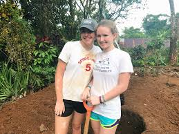 This Summer Grace Flynn And Julia Farah Joined Forces With Approximately 30 Other Rustic Pathways Volunteers To Complete Several Service Projects In Costa