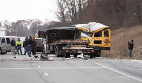 1 Student Killed After Truck Crashes Into Indiana School Bus | Time Images Truck Crashes Into Jacksonville Beach Lawyers Office Wjaxtv Fire Truck Through Cable Barrier After Tire Blows Out Kforcom Dump Rock Beside Trscanada Highway In Langford Driver Inattention At Root Of 3 Deadly Transport Opp Injured Box Kfc Pinellas Park Falls Garage Tree Line On Rice Street News Deldot Plow Newark 6abccom Massive Crash Youtube Chicken Spilling Foul Onto Alabama Highway Telegraph Road Business Nation And World Pickup House Mesa