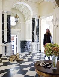 The Foyer Of This Back Bay Mansion Boasts Original Italian Marble Floors And Columns