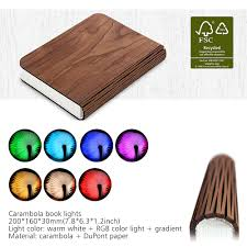 led folding book l lumio style portable wooden usb rechargeable