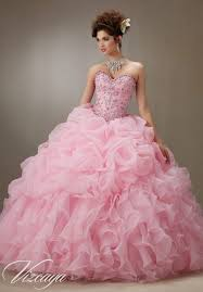 quinceanera dresses by vizcaya ruched organza skirt with beaded