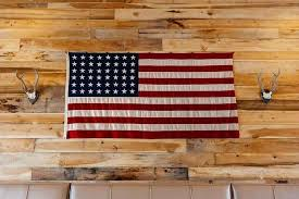 Sycamore Pumpkin Fest Flag by Interior Wall Built Using Nc Poplar Us 58 Star Flag From Wwii