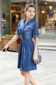 Summer Style Women Jeans Dress 4XL Elastic Waisted Button Denim Dresses Half Sleeve Pockets Cowboy Vestidos Dreeses In From Womens