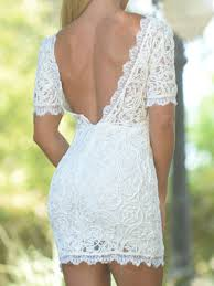 thanksgiving day selling open white backless short sleeve