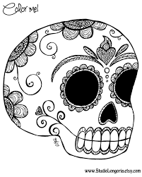 Coloring Page Day Of The Dead Holidays And Special Occasions 16