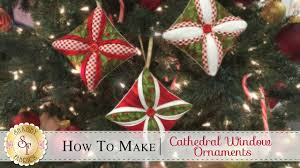 How To Make A Cathedral Window Ornament