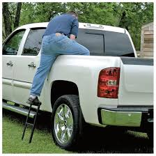 Truck Tailgate Step Ladder With Handrail - Truck Camper : Porch ...