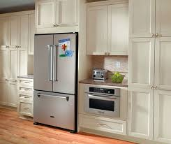 f White Cabinets in Casual Kitchen Kitchen Craft Cabinetry