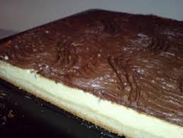 quarkkuchen mit schokoladenguss