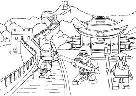 Lego Ninjago Coloring Pages Together With Page For Create Inspiring Kai
