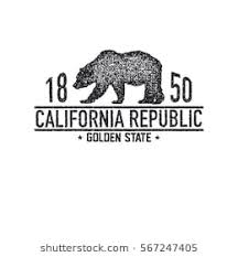 California T Shirt With Grizzly Bear Graphics Design Print