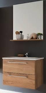bad badezimmer set trüffel eiche komplett mit waschbecken badmöbel 60 cm intenso ebay