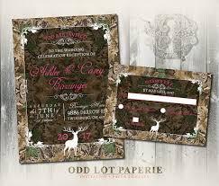 Camo Wedding Invitation And RSVP Set Rustic