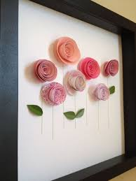 Pink Rose Garden 3D Paper Art Customize With Your Colors And Personalize