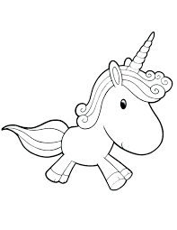 Cute Unicorn Coloring Pages Faerie Unicorns Baby Printable Colorin