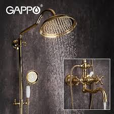 gappo luxus gold bad dusche armaturen messing bad wasserhahn
