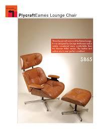 Plycraft Mr Chair By George Mulhauser by Tan Leather And Walnut Eames Lounge Chair With Ottoman 865 00