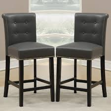 Black Leather Bar Stools by Furniture Ivory Leather Bar Stools Counter Height With Black Legs