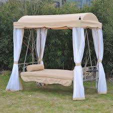 84a 023 outsunny convertible covered patio swing bed w mesh side